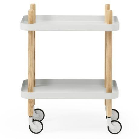 Normann copenhagen table roulettes block - Table a roulettes ...
