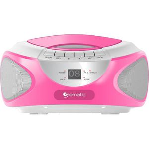 RADIO CD ENFANT EBB9224 CD Boombox with Bluetooth Audio and Speake
