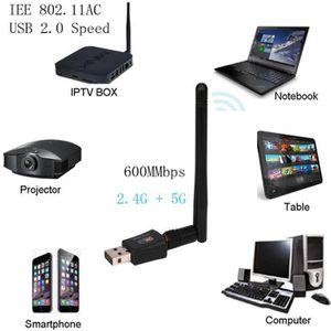CLE WIFI - 3G 600 Mbps double bande 2,4 - 5 GHz sans fil Adaptat