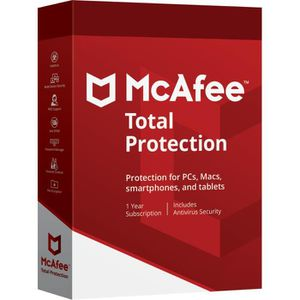ANTIVIRUS McAfee Total Protection 2018 | 10 Appareils | 1 An