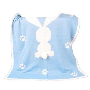 COUVERTURE - PLAID BÉBÉ Couverture de bébé Couverture de couverture à tric