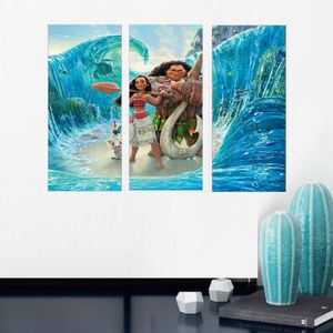CHEVALET DE PEINTRE moana cartoon movie poster de peinture décorative