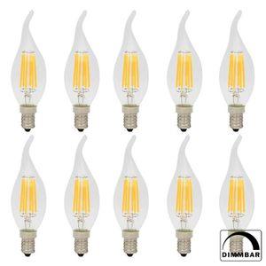 AMPOULE - LED Lot de 10 Ampoules LED Dimmable Filament E14 6W C3