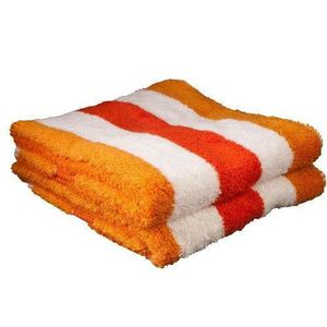 SERVIETTES DE BAIN Gözze, lot de 2 serviettes de toilette à rayures
