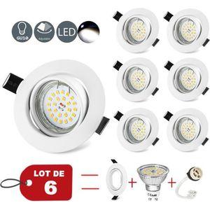 SPOTS - LIGNE DE SPOTS WOWATT Lot de 6 Spots Encastrables LED Orientable