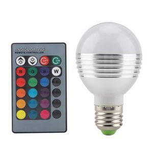 GYROPHARE E27 - 5W RGB Ampoule Lampe AC85-265V Couleurs Chan