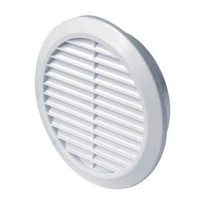 Anthracite Grille de ventilation ronde pour insectes /Ø 60 mm En plastique