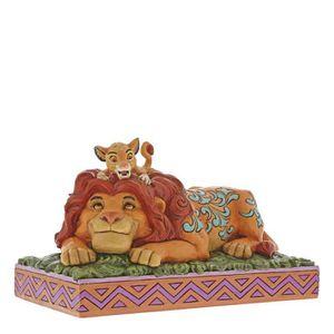 FIGURINE - PERSONNAGE Disney Tradition Simba & Mufasa Figurine, Plastiqu