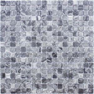 CARRELAGE - PAREMENT Mosaïque en pate de verre  Fleur Brillante 30 x 30