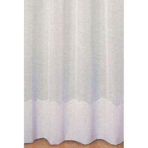 VOILAGE Voilage avec Cornely Blanc 240 x 240 cm