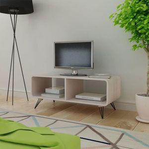 MEUBLE TV Meuble TV-Contemporain Scandinave 90 x 39 x 38,5 c