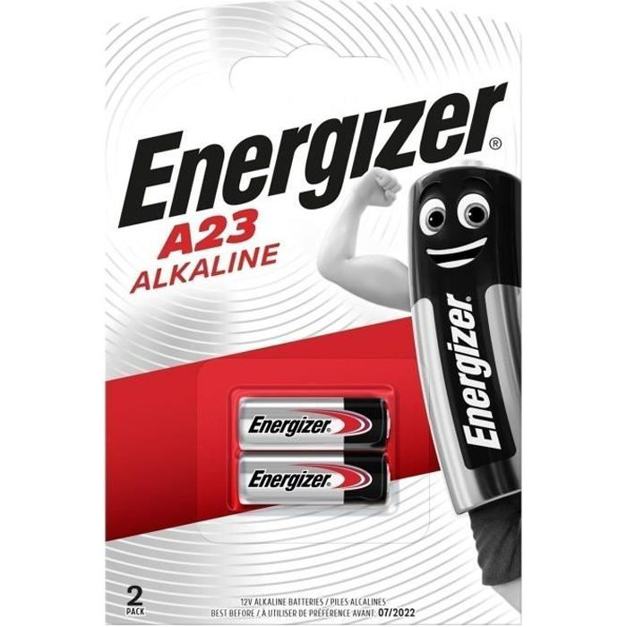 energizer 2 piles alcalines a23 achat vente piles cdiscount. Black Bedroom Furniture Sets. Home Design Ideas