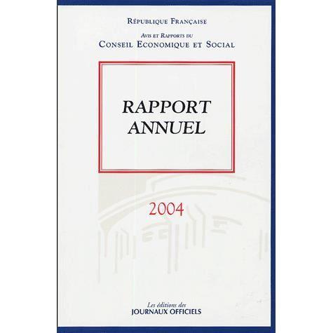 LIVRE ÉCONOMIE  Rapport annuel 2004