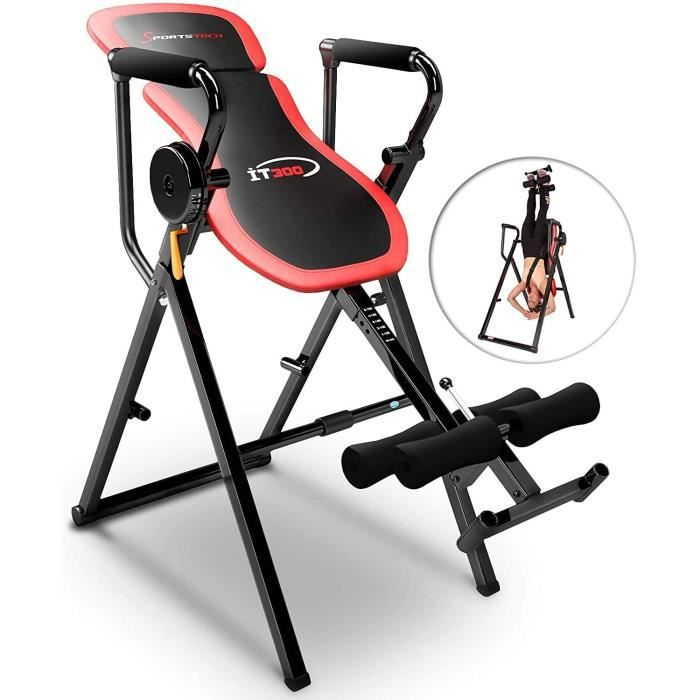 Sportstech Table d'Inversion Multifonctions IT300 Musculation Traction 6-en-1, Muscles dorsaux, Barre de Traction, Repliable, Montag