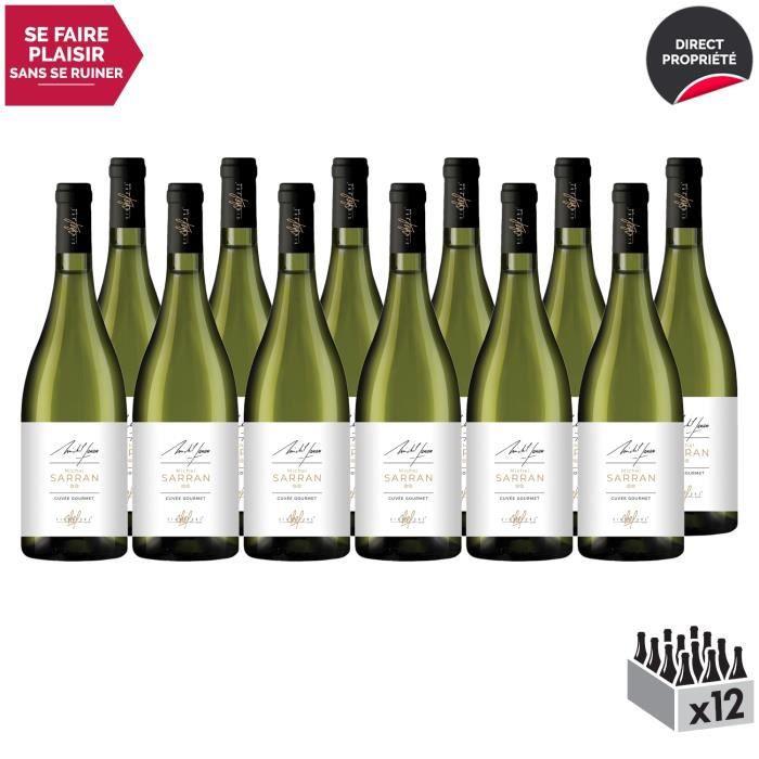 MICHEL SARRAN Cuvée Gourmet Blanc 2019 - Lot de 12x75cl - Signature Chef - Appellation IGP Pays d'Oc - Vin Blanc du Languedoc -