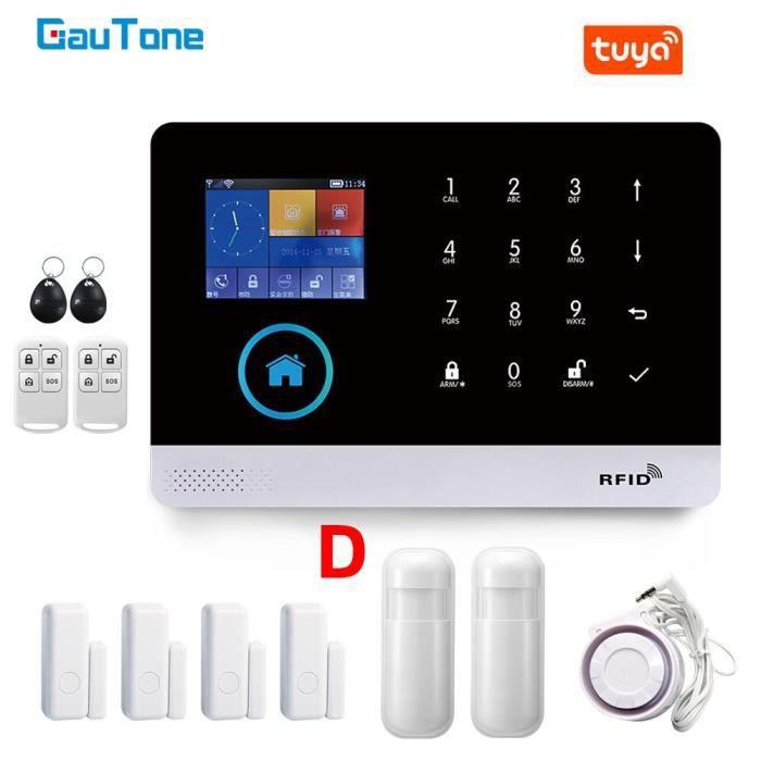 Gauton – système d'alarme de sécurité domestique PG103, wi-fi, GSM, 433MHz, sans fil, pour maison connectée Tuya, [8EA30C2]