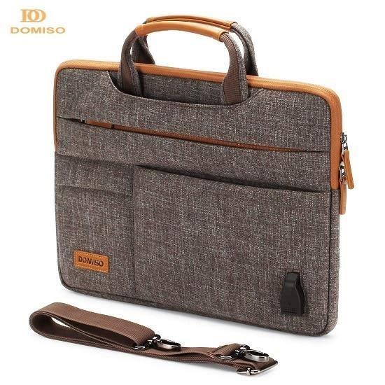 Brown-13 pouces -DOMISO10, sacoche multifonction 13 14 15.6 17.3 pouces, pochette pour ordinateur portable mallette d'affaires po