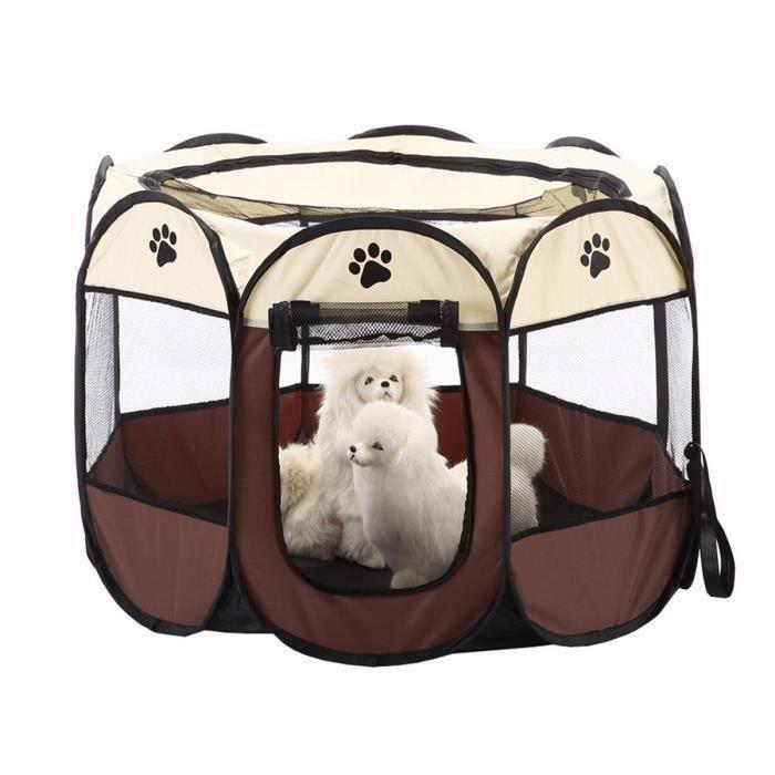 Tente pour Animaux de Compagnie Animal Domestique Cage de Chien Octogonal Parc Pliable à Chiots Chien Chaton Chat Aa74774