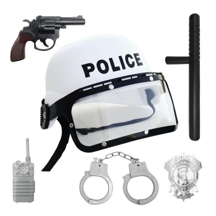 6 pcs Police Cosplay Costume Performance Jeu de Rôle Amusant Jouet Éducatif Accessoires pour Enfants Garçons ETAI