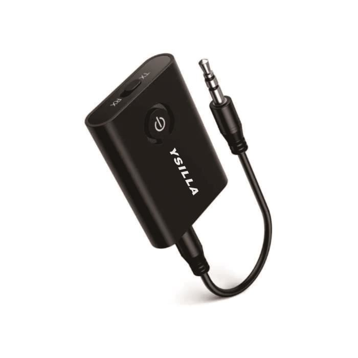Adaptateur Bluetooth 5.0 Émetteur Bluetooth Émetteur et récepteur 2 en 1 Sortie stéréo 3,5 mm, peut connecter 2 appareils en même te