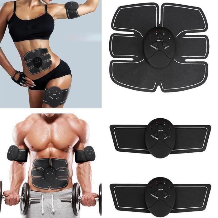 Electrostimulateur,Ceinture Abdominale,Appareil Abdominal Muscle ABS Forme d'Exercice Fitness, Appareil Fitness pour Hommes Fe