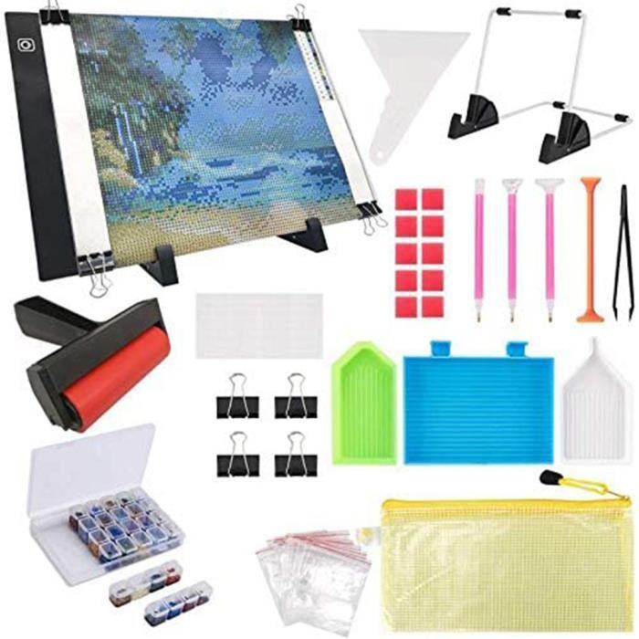 133PCS Diamond Painting A4 LED Light Pad Kit, DIY Dimmable Light Brightness Board Mishuowoti 546