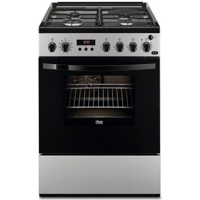 FAURE FCM656HPSA cuisinière table mixte gaz / électrique - 4 foyers - Four électrique - Pyrolyse - 54 L - A - L 60 x H 88,9 cm