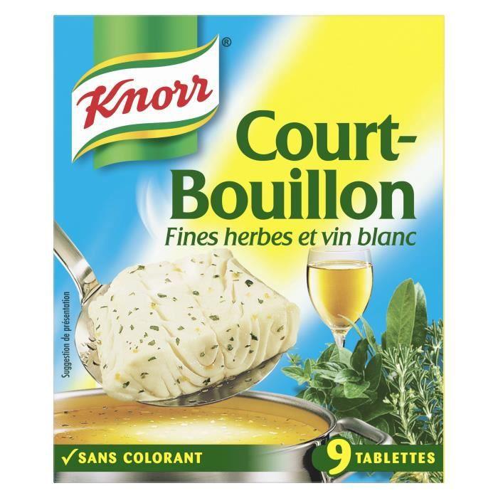 KNORR Court-Bouillon Fines Herbes 9 cubes - 107 g