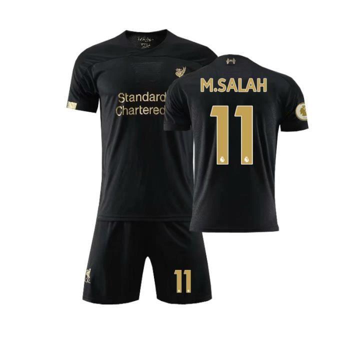 Premier League Liverpool 19-20 NO.11 M.SALAH Jersey Maillots Foot et Shorts de Football Homme-Enfant-Noir