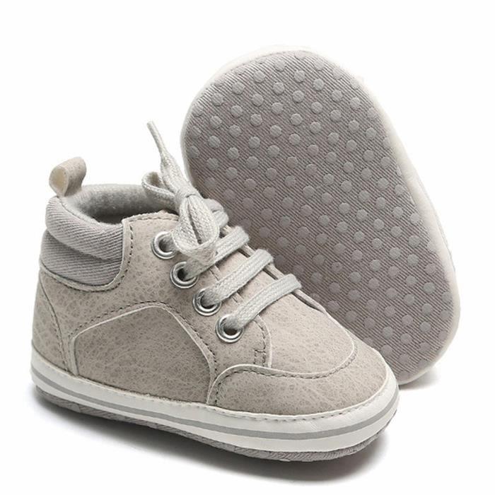 Tout-petit enfant bébé filles garçons mignon bambin première marche bottes d'hiver chaussures décontractées Gris