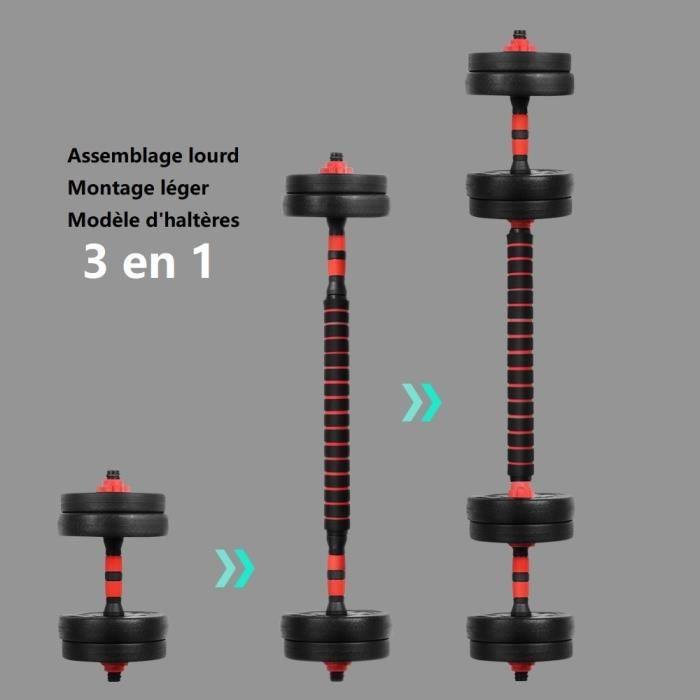 OneTwoFit Kit d'haltères 25kg musculation haltère réglable OT136
