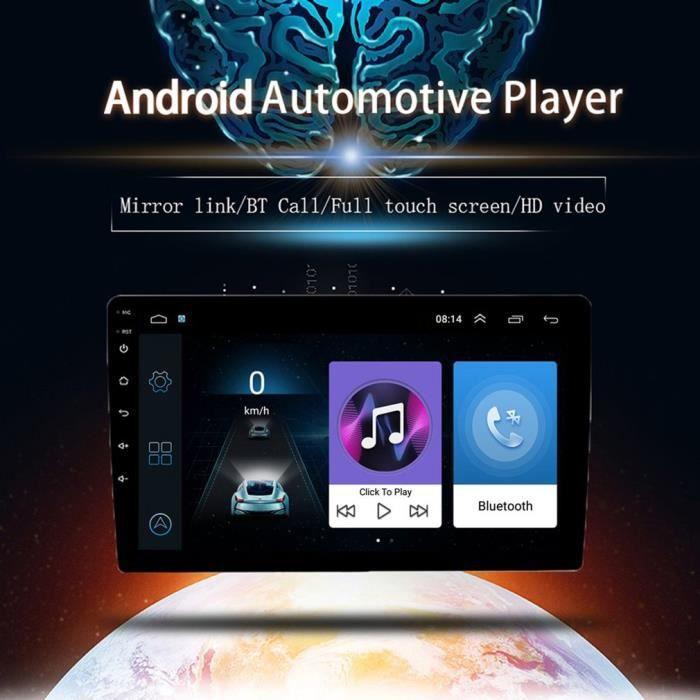 """10.1"""" Android Autoradio GPS CAMECHO Écran Tactile Complet Bluetooth WiFi Récepteur FM Auto Radio Téléphone Mobile Lien Double USB"""