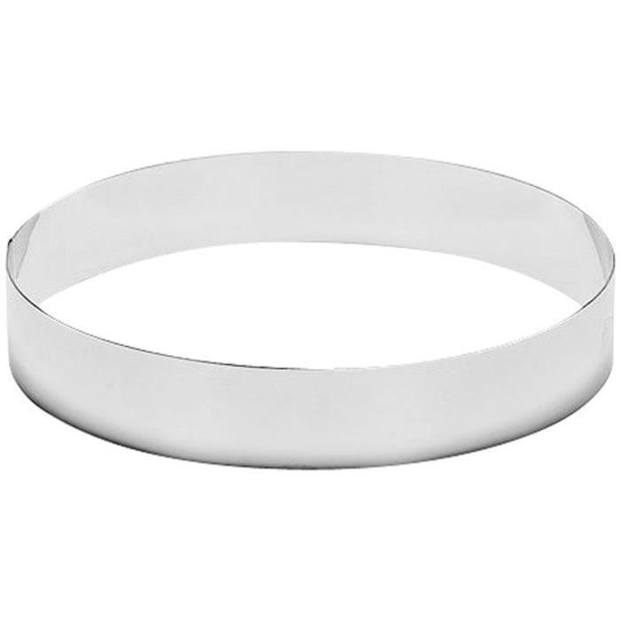 Cercle à tarte D : 20 x 4.5 cm - inox