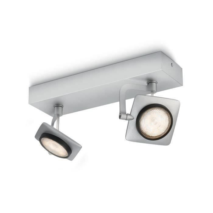 Philips myLiving Spot 5319248P0, Surfaced lighting spot, 2 ampoule(s), LED, 4,5 W, 1000 lm, Aluminium