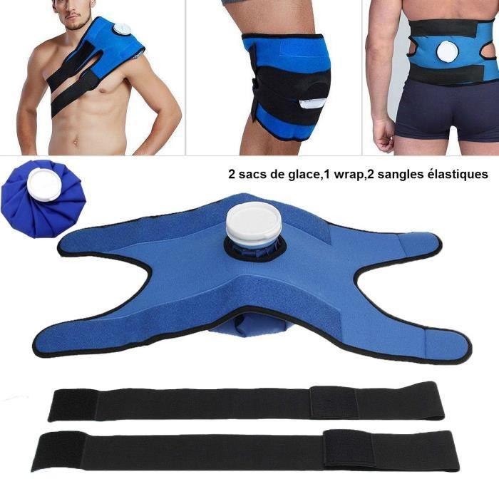 9- Poche Sac de Glace thérapie Chaud Froid Idéal pour les Genoux/ épaules/la Taille,2 Sac à Glaçons et Emballage Soulager la Douleur