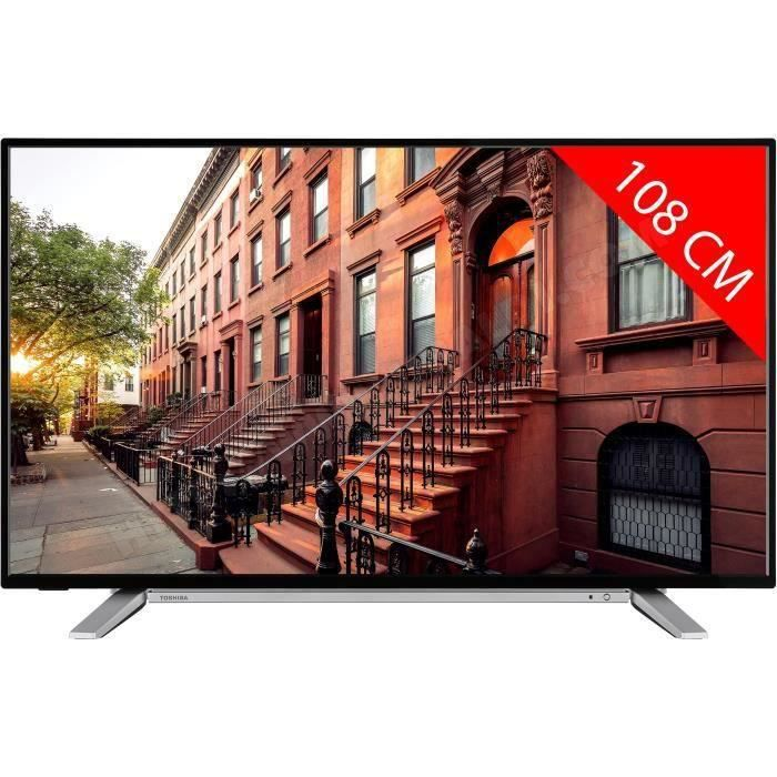 TOSHIBA 43UL2A63DG TV LED UHD 4K - 43-(109cm) - Smart TV - WiFi - Bluetooth - 3 x HDMI - 2 x USB - Classe énergétique A+
