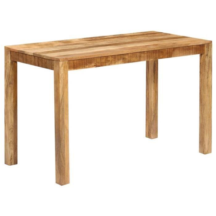 Table de salle à manger Bois de manguier massif 120x60x76 cm - Brun - Meubles/Tables/Tables de salle à manger - de cuisine - Brun -