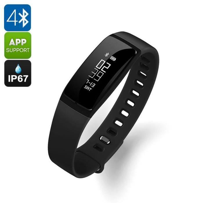 Bracelet Sport Connecté Bluetooth Android iOS Etanche Cardio Tension Pédomètre