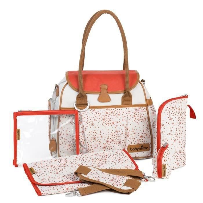 babymoov sac langer style bag ivory beige et orange achat vente sac langer 3661276016521. Black Bedroom Furniture Sets. Home Design Ideas