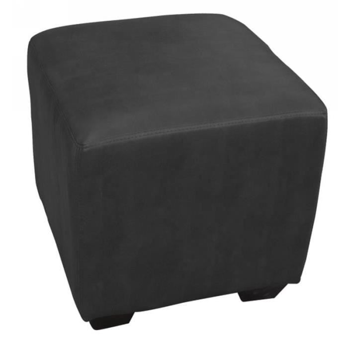 pouf repose pied rembourr noir myco00324 achat vente pouf poire cdiscount. Black Bedroom Furniture Sets. Home Design Ideas