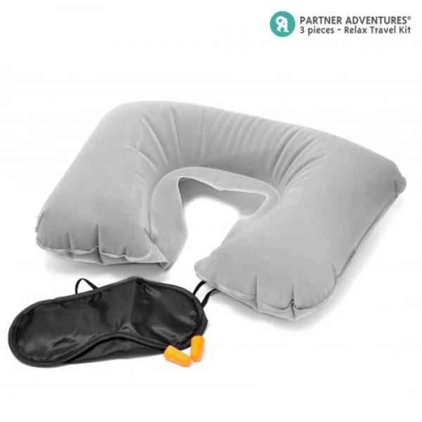 Neuf 3 en 1 voyage confort set gonflable coussin cervical oreiller masque yeux 2 ear plug