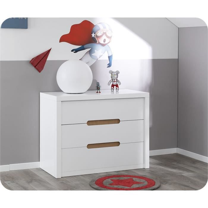 commode enfant bow blanche achat vente commode de chambre commode enfant bow blanche cdiscount. Black Bedroom Furniture Sets. Home Design Ideas