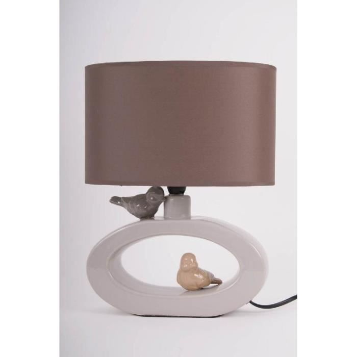 lampe design ovale 2 oiseaux sur le pied c ra achat vente lampe design ovale 2 oiseau. Black Bedroom Furniture Sets. Home Design Ideas