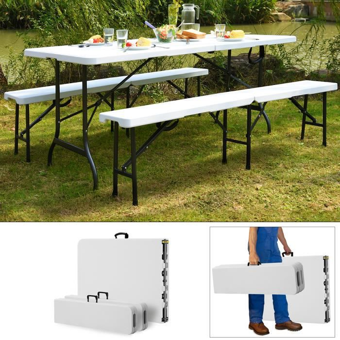 Table Et Banc Pliable