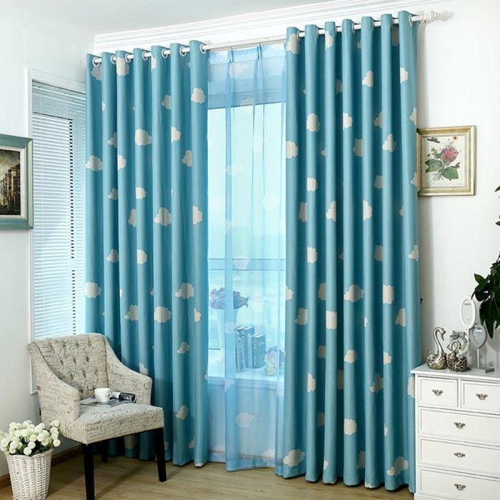 Rideaux fenêtre nuage romantique modèle Voile porte rideaux ...