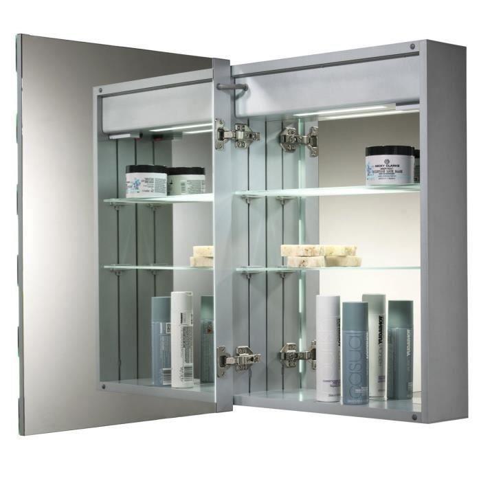 Armoire de toilette pour salle de bain avec miroir lumineux ...