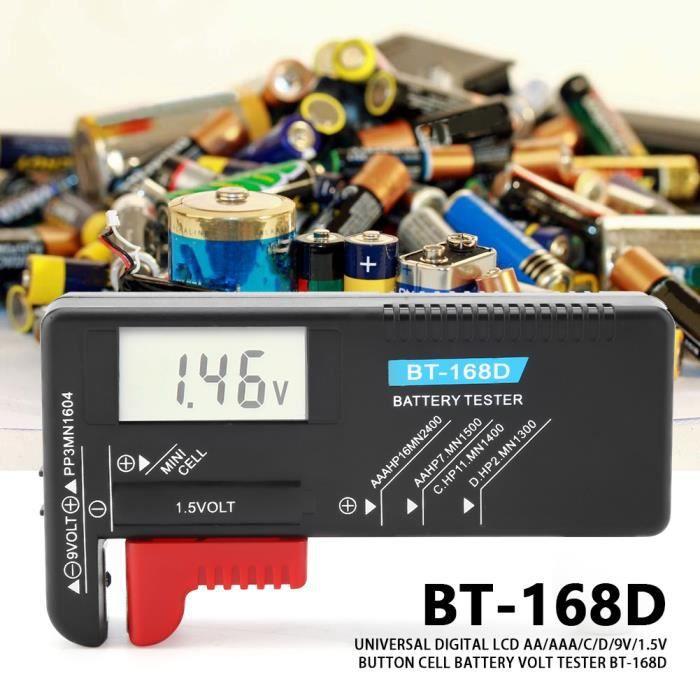 Testeur de batterie universel pour piles bouton Checker AA AAA C D 9V BT-168~