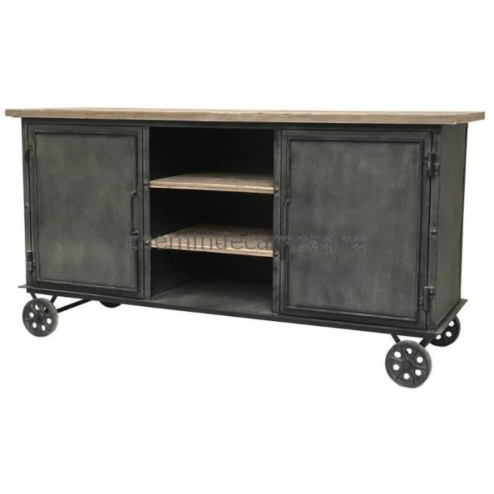Buffet bahut console enfilade meuble cuisine roulettes for Enfilade meuble