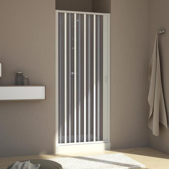 Porte paroi de douche en Plastique PVC mod Vergine 90 cm avec ouverture lat/ér