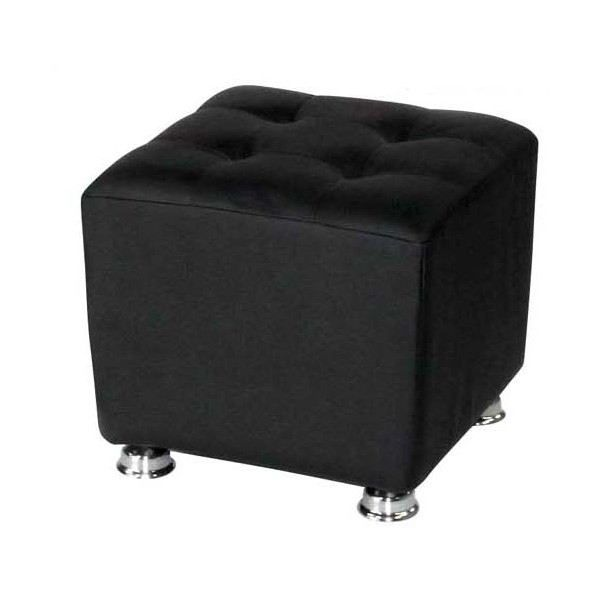 pouf cuir noir. Black Bedroom Furniture Sets. Home Design Ideas